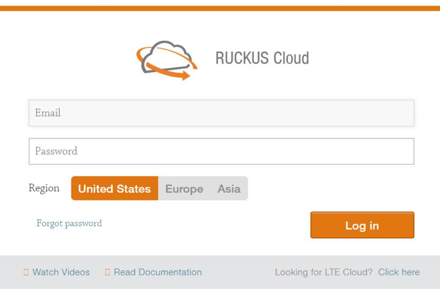 Trang đăng nhập Ruckus Cloud